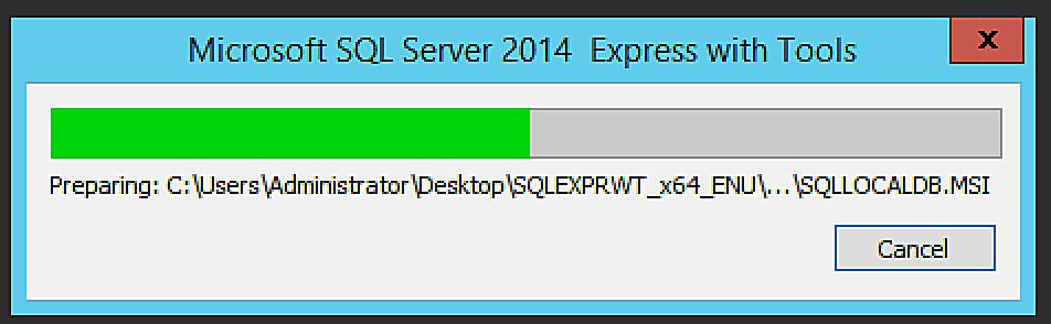 install sql server 2014 express windows 7