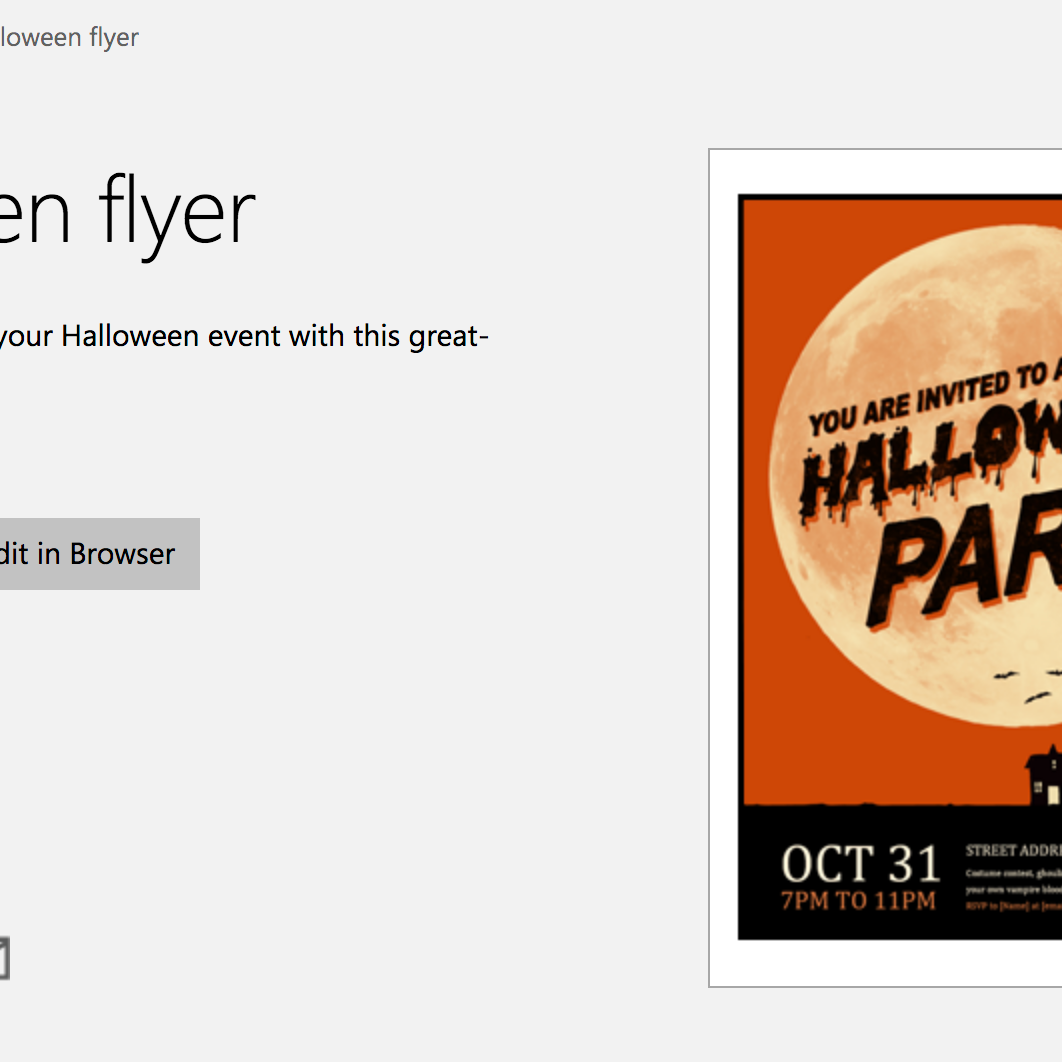 7 Free Halloween Themed Templates For Microsoft Word