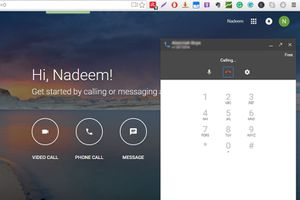 Hangouts Calling Through GMail and Google