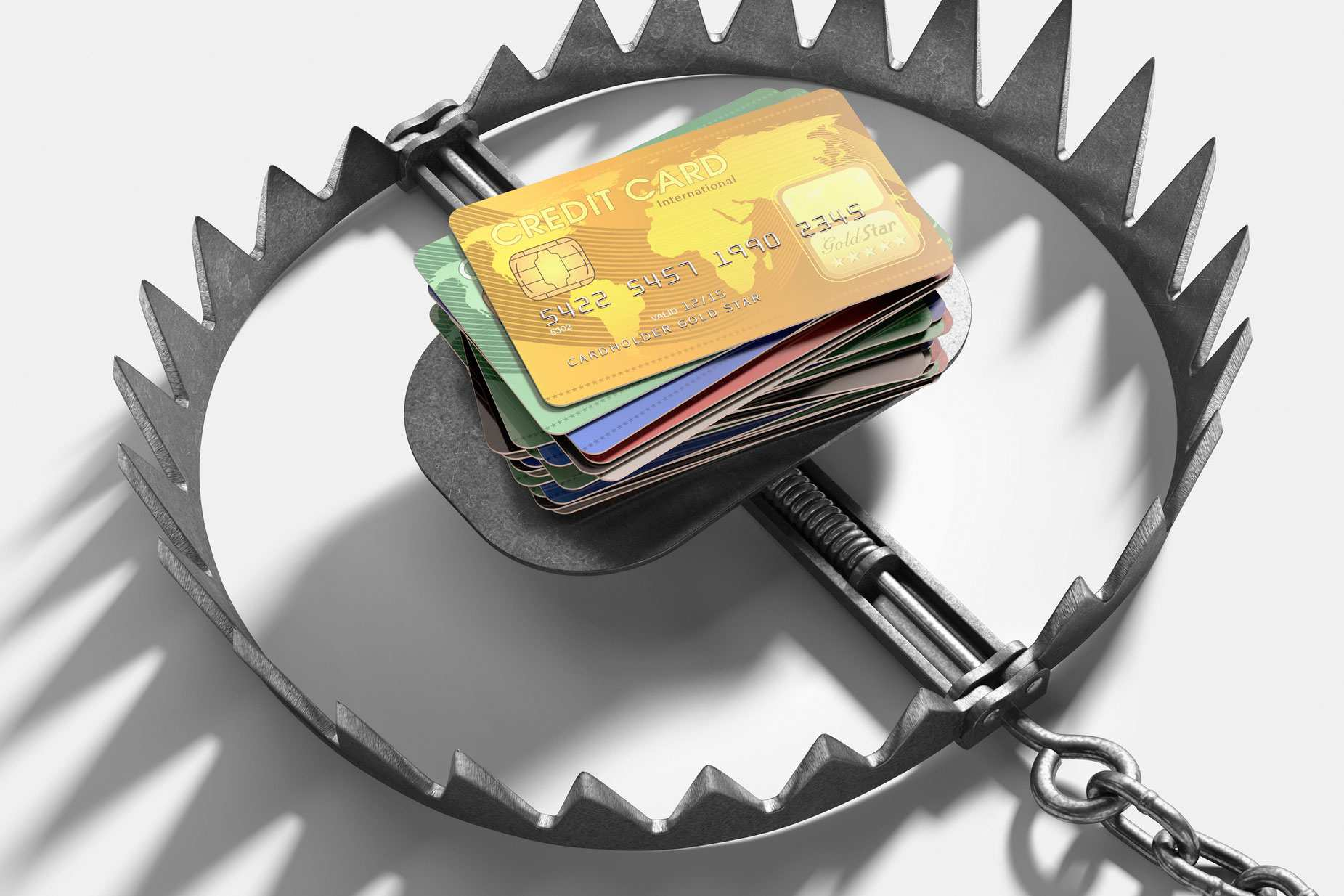 Bear trap with credit cards