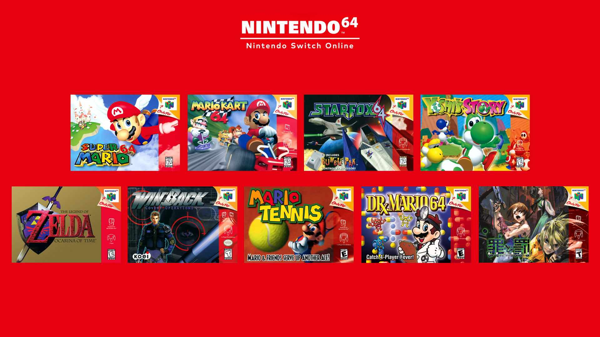 Switch Online Nintendo 64 library