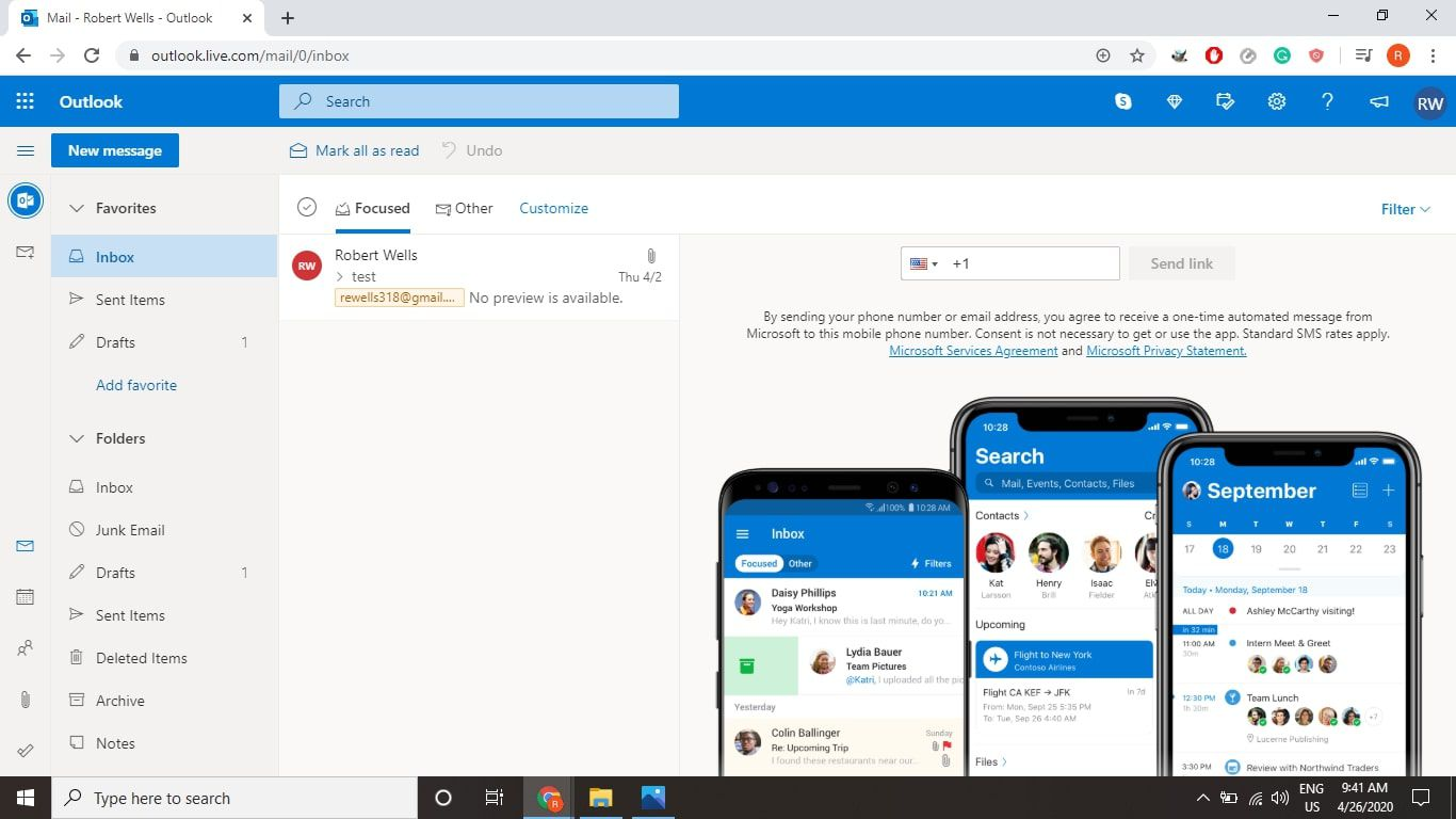 Select the People icon in the lower-left corner of Outlook.com