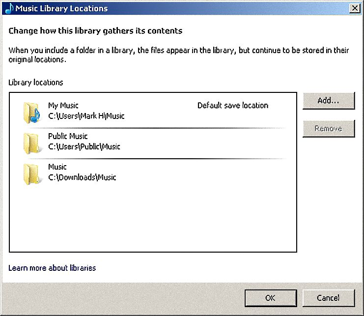 Adding and Removing Music in Windows Media Player 12