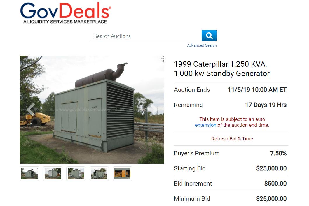 GovDeals auction website