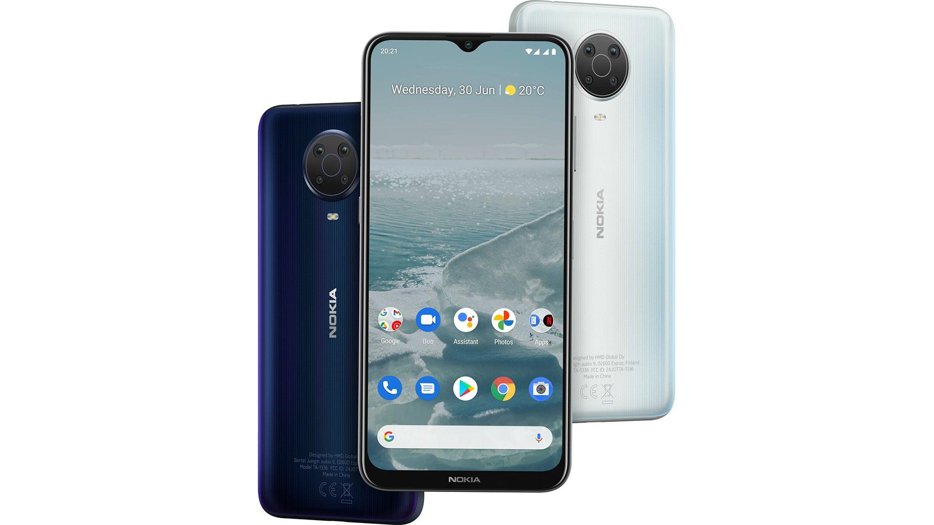 The Nokia G20 smartphone
