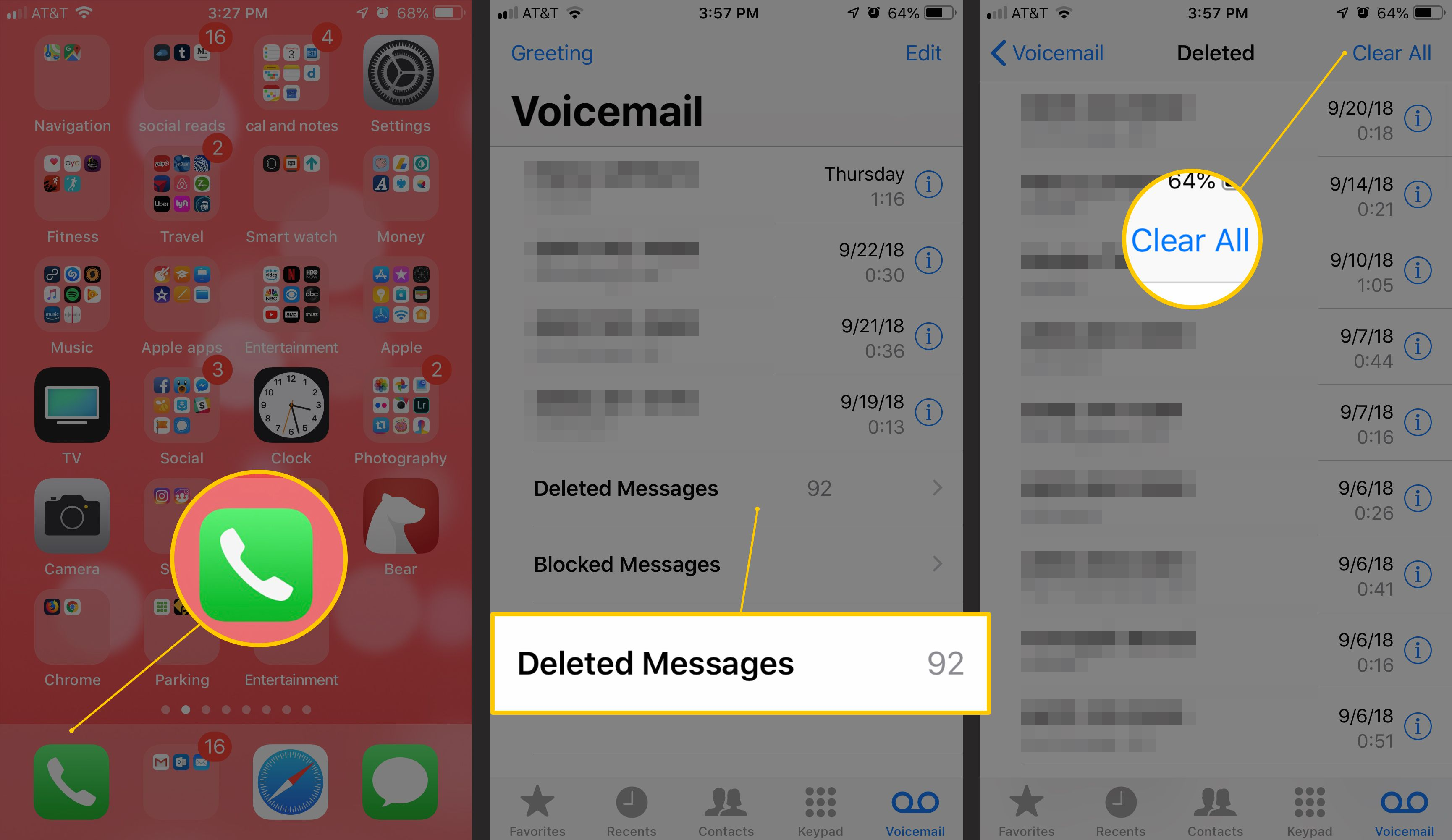 How to delete voicemail on iphone m4hsunfo