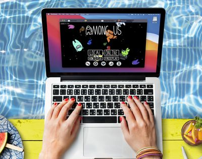 Playing Among Us on a Mac.