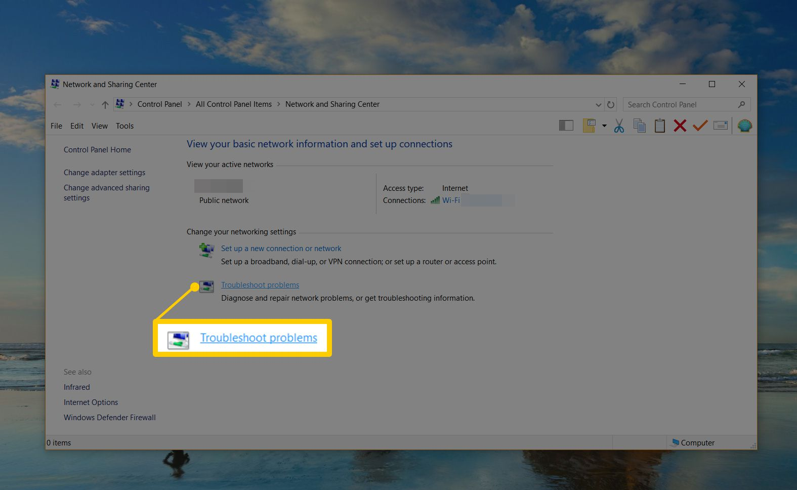 Solve Dns Server Not Responding Errors On Your Network Broadband Internet Connection Sharing Diagram Troubleshoot Problems Window In Networkd And Center For Windows 10