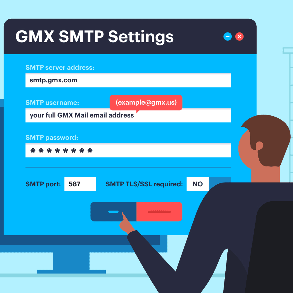 GMX SMTP Settings for Sending Mail