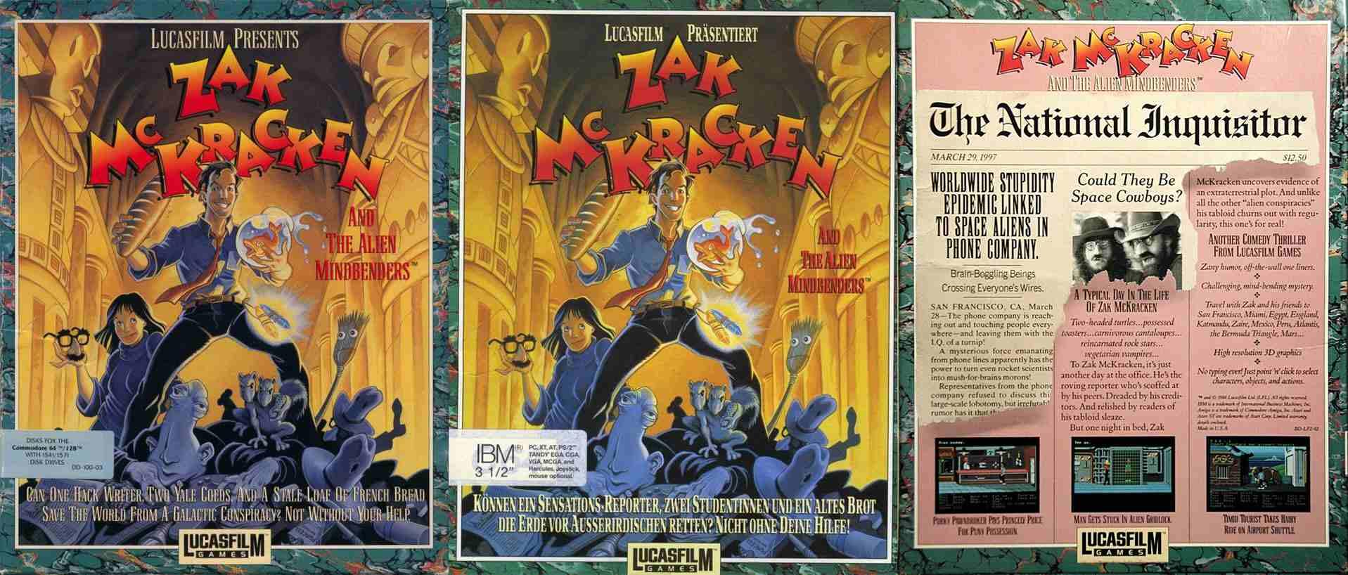 Zak McKracken and The Alien Mindbenders IBM PC, Amiga Box & Back