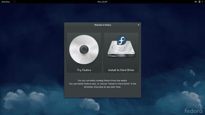 Fedora Live USB Drive