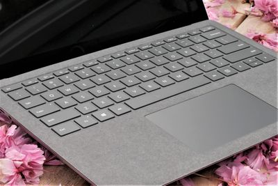 A photo of the Microsoft Surface Laptop 4's keyboard