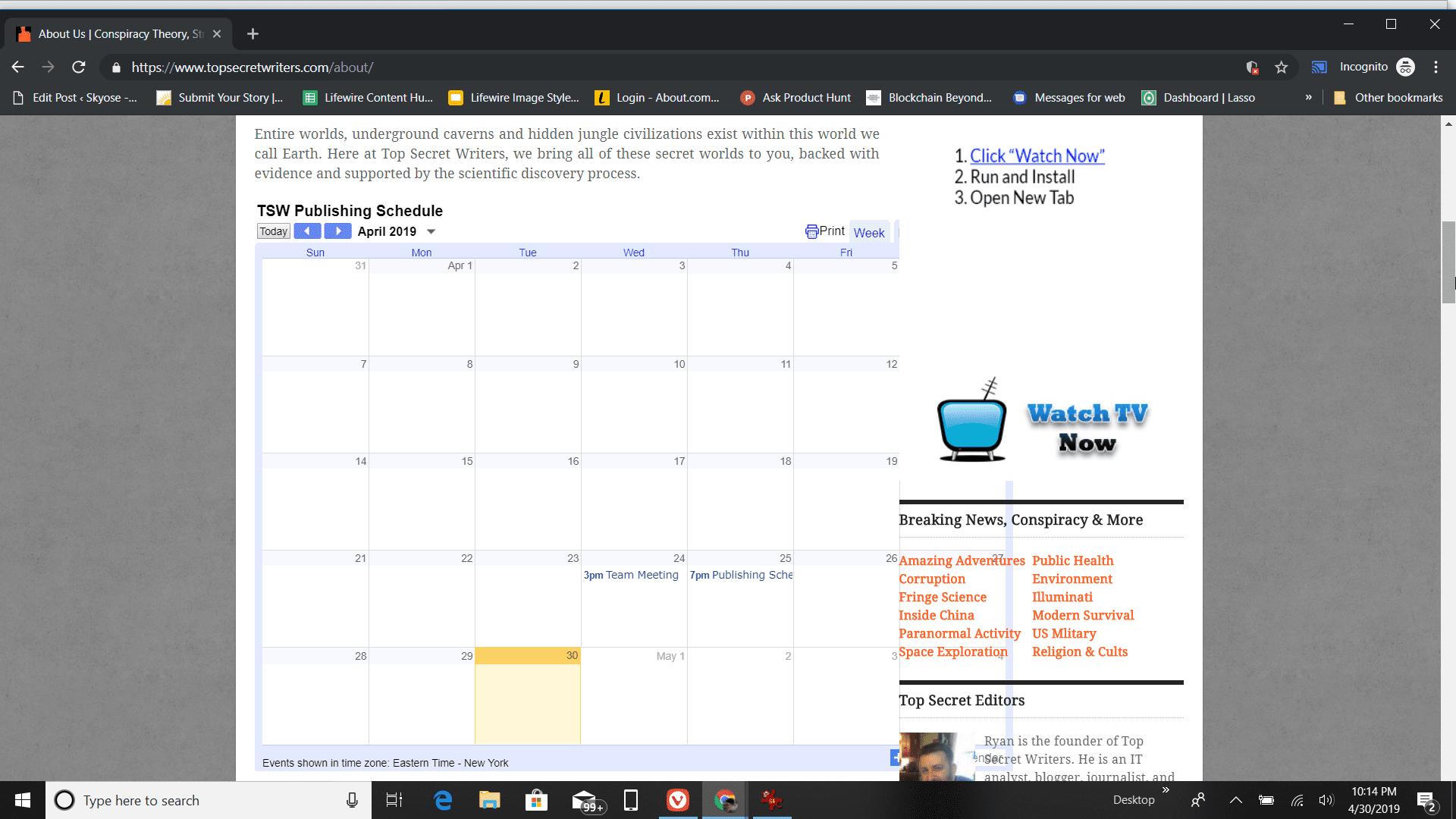Embedded Google Calendar on a blog