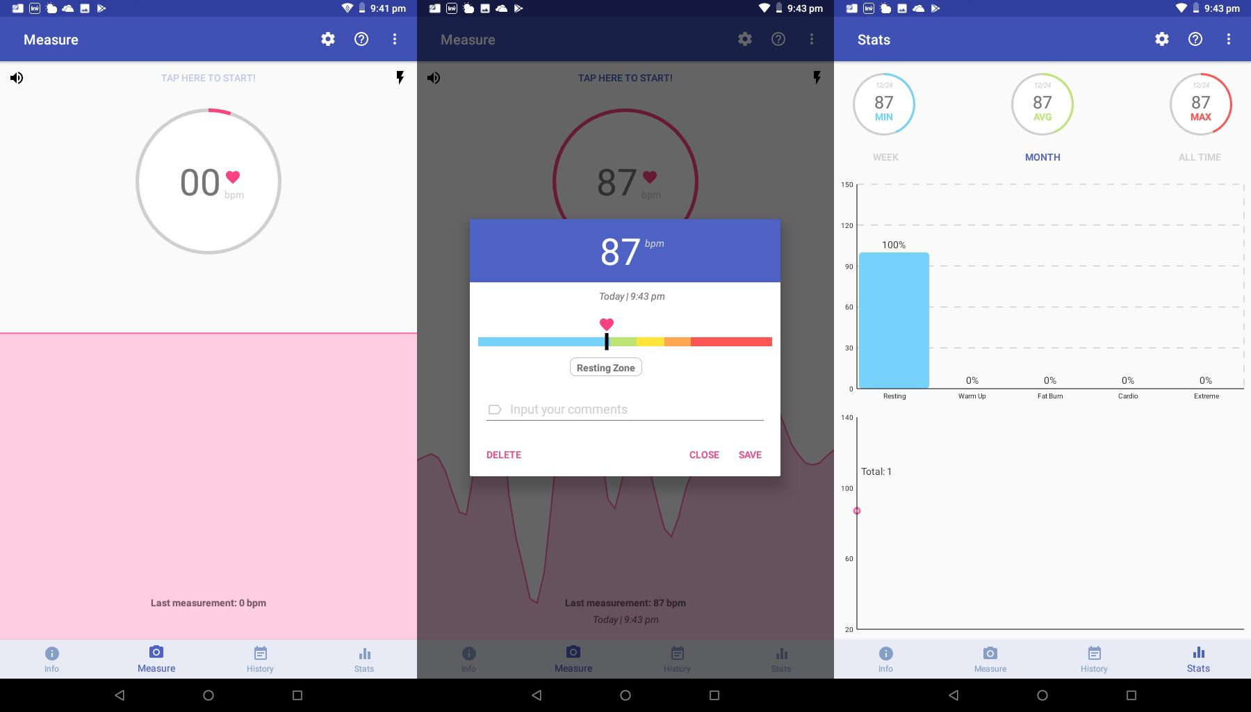 Accurate Heart Rate Monitor on Android.