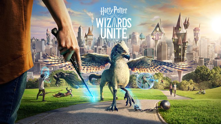 harry potter wizards unite title screen