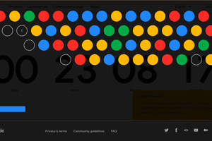 Google I/O's registration page Breakout-style game