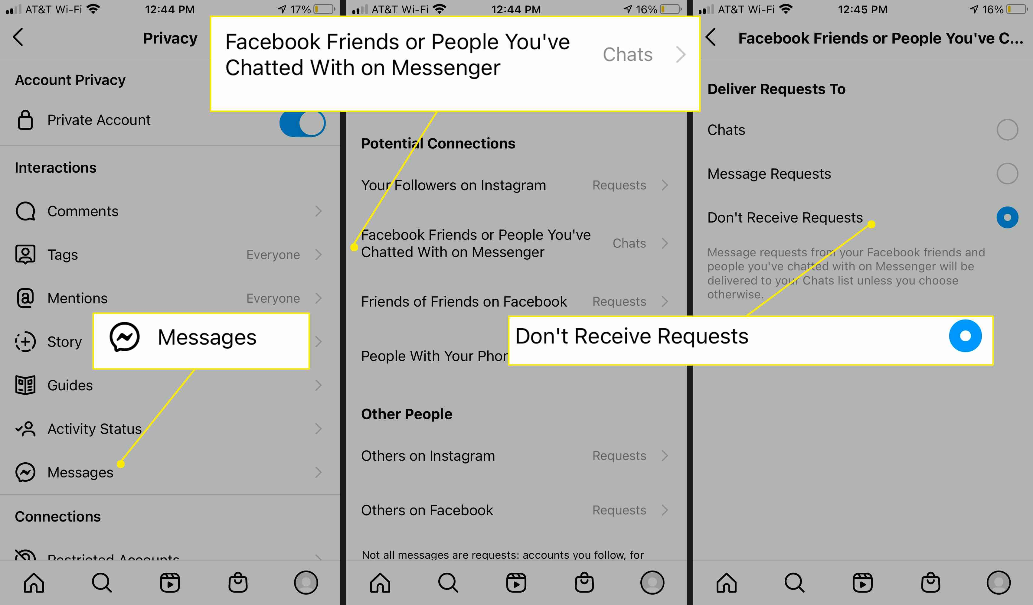 Stop receiving messages from Facebook Friends