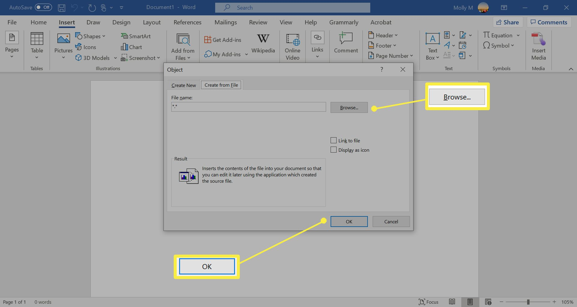 How To Insert A Pdf Into Word