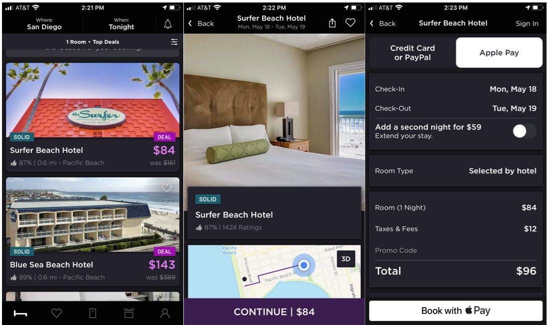 HotelTonight travel app