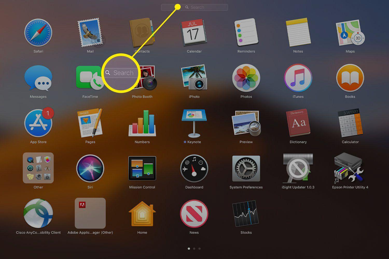 Application on Mac Launchpad