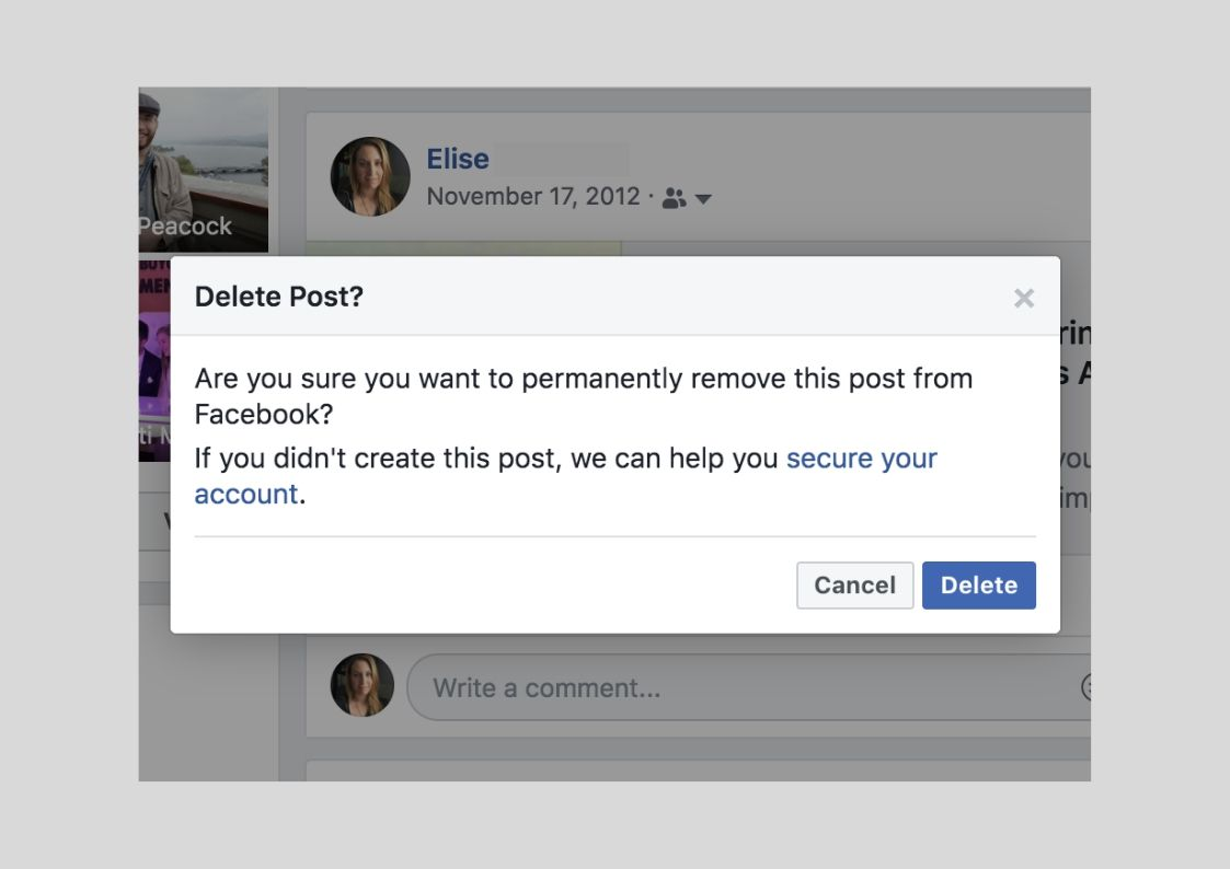 How to Delete a Post on Facebook