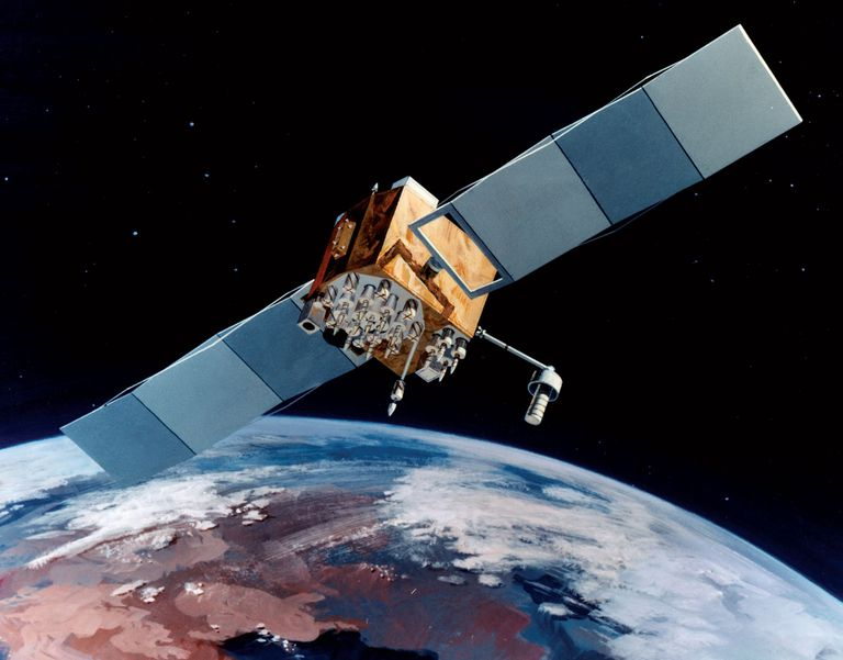 A satellite in the GLobal Positioning Satellite System.