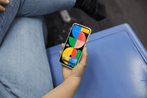 The Pixel 5a 5G smartphone.
