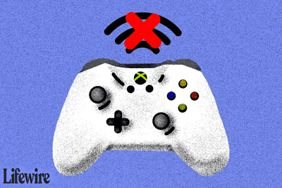 Illustration of an Xbox One controller without a connection