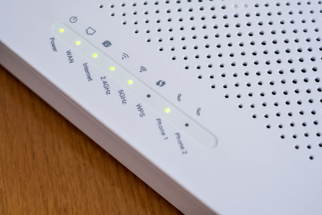 Image of modem lights