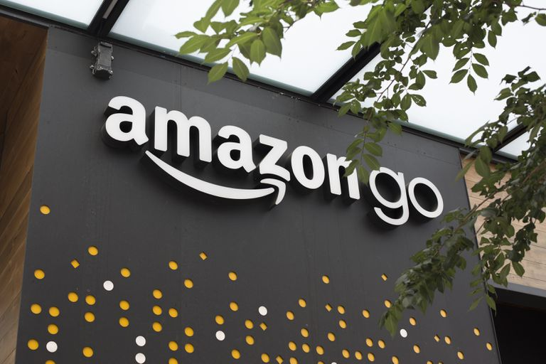 Exterior of an Amazon Go retail location