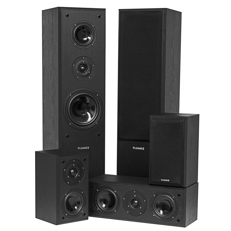 Fluance Surround Sound Home Theater 5 Speaker System Model