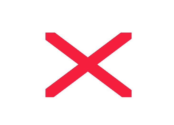 Red X means a picture can't display properly in Microsoft PowerPoint