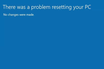 There was a problem resetting your pc error
