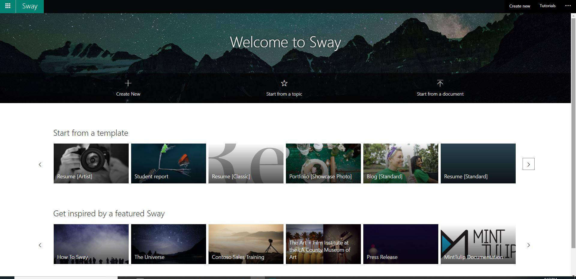 what is microsoft sway