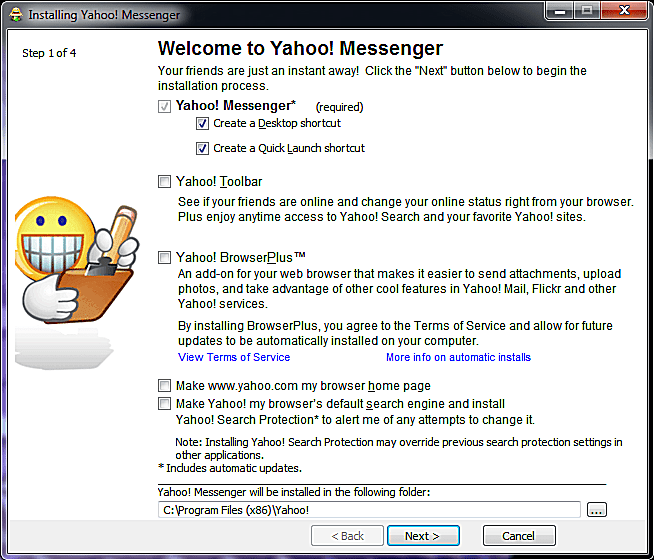 yahoo messenger desktop