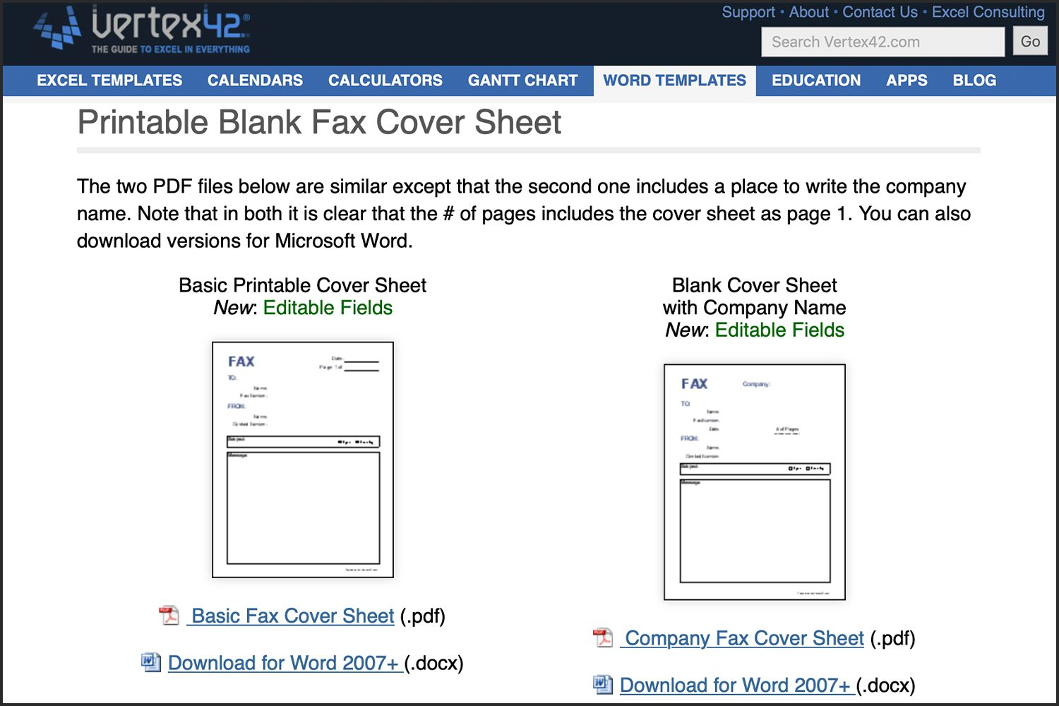 Word Fax Template 2007 The 13 Best Sites Of 2019