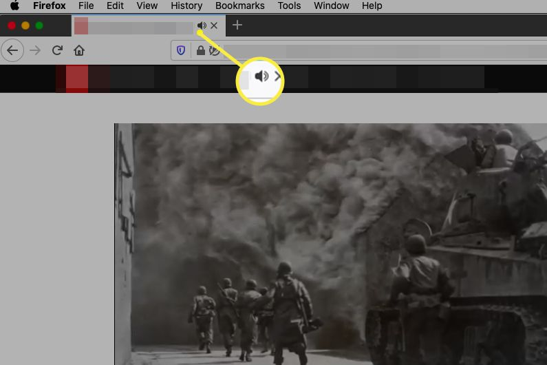 Mute button on Firefox tab