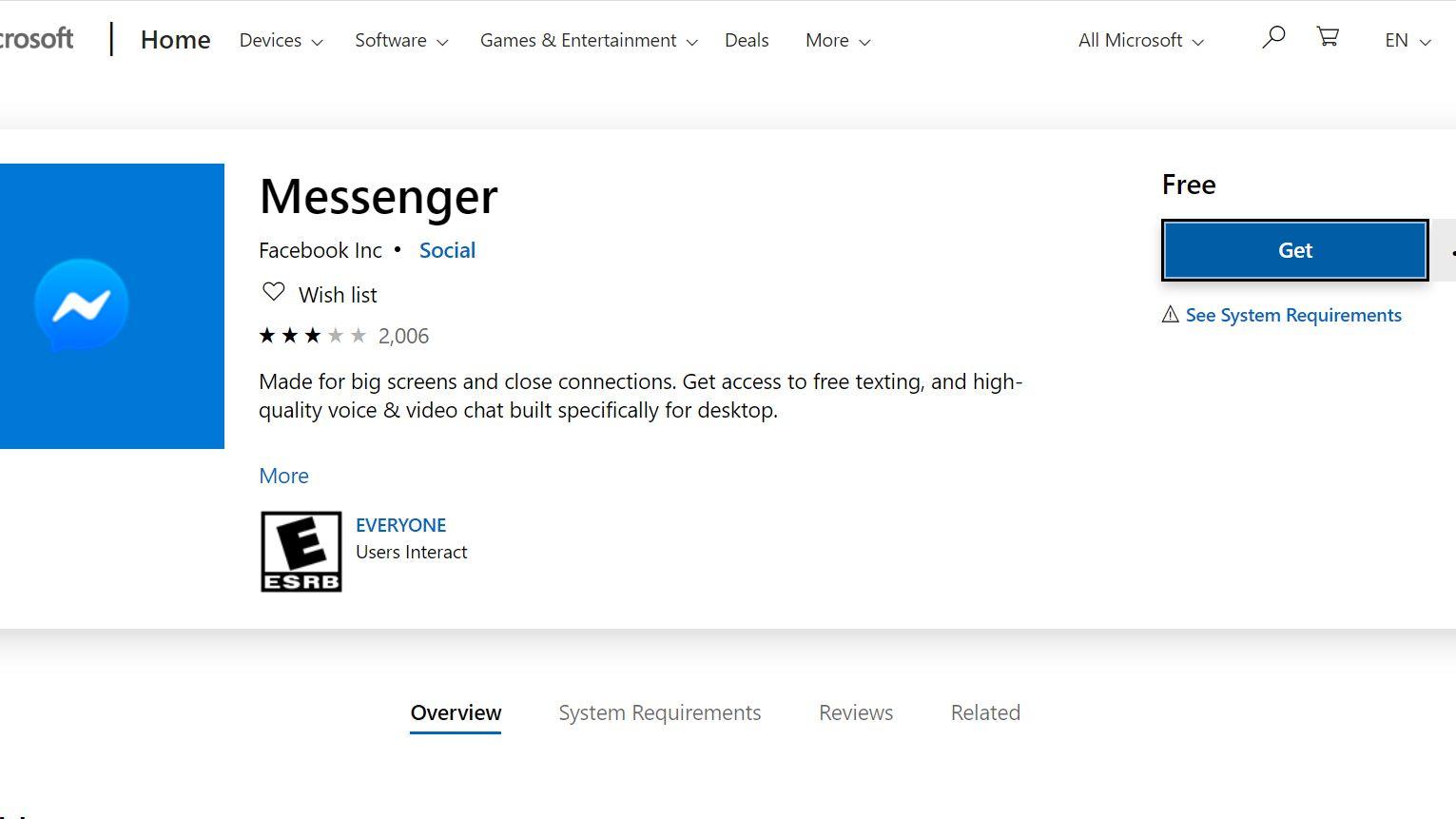 facebook messenger for laptop free download