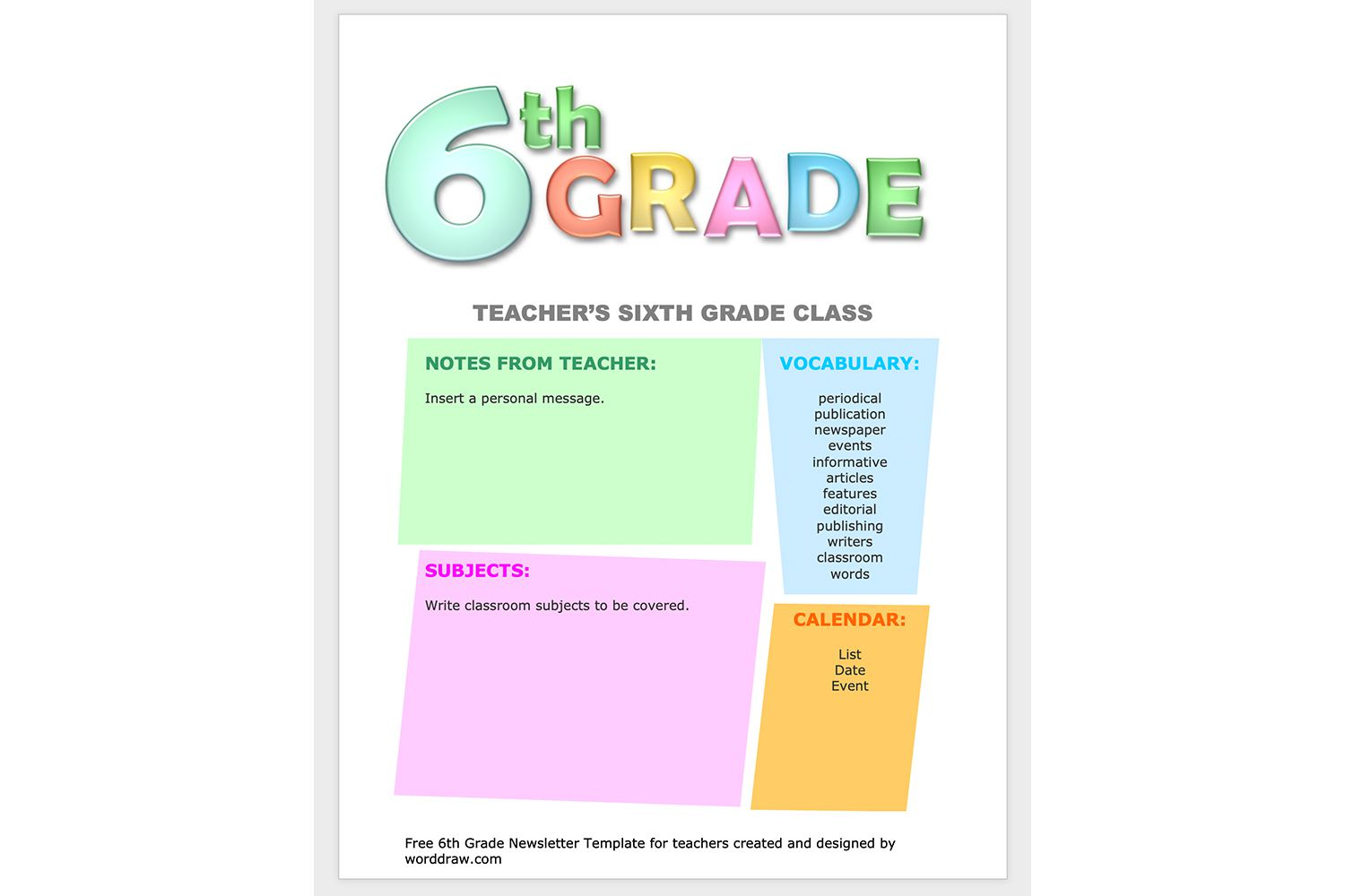 Microsoft Word Templates for School Use With Regard To Bulletin Board Template Word
