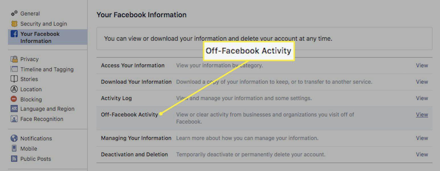 Your Facebook information.