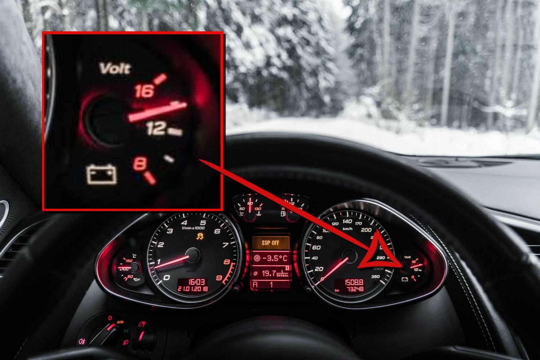 dashboard voltage gauge