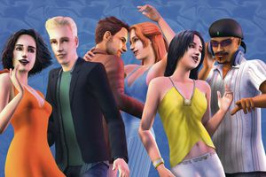 Characters from the video game The Sims 2