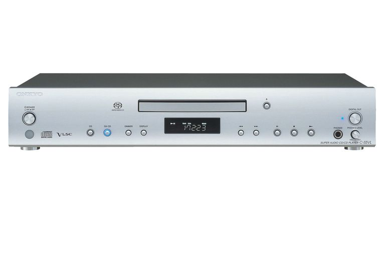 The Onkyo C-S5VL SACD/CD Player front panel.