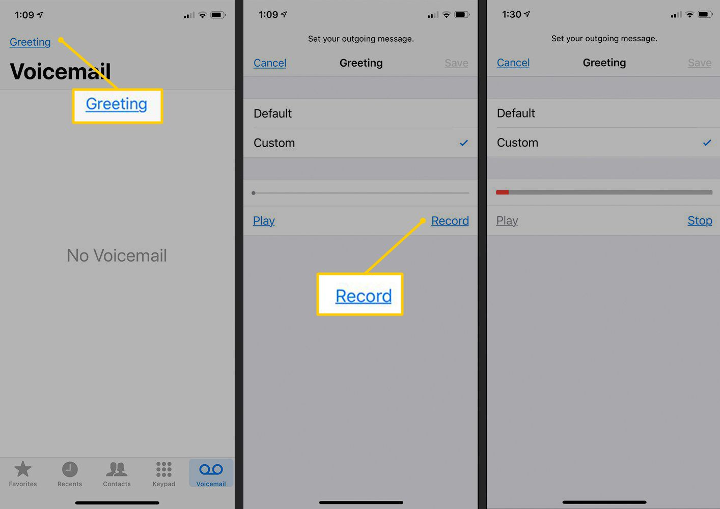 How to Record a Voicemail Greeting on iPhone