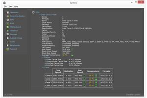 Speccy v1.32 in Windows 8