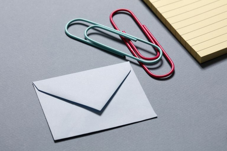 Letter and Paperclip