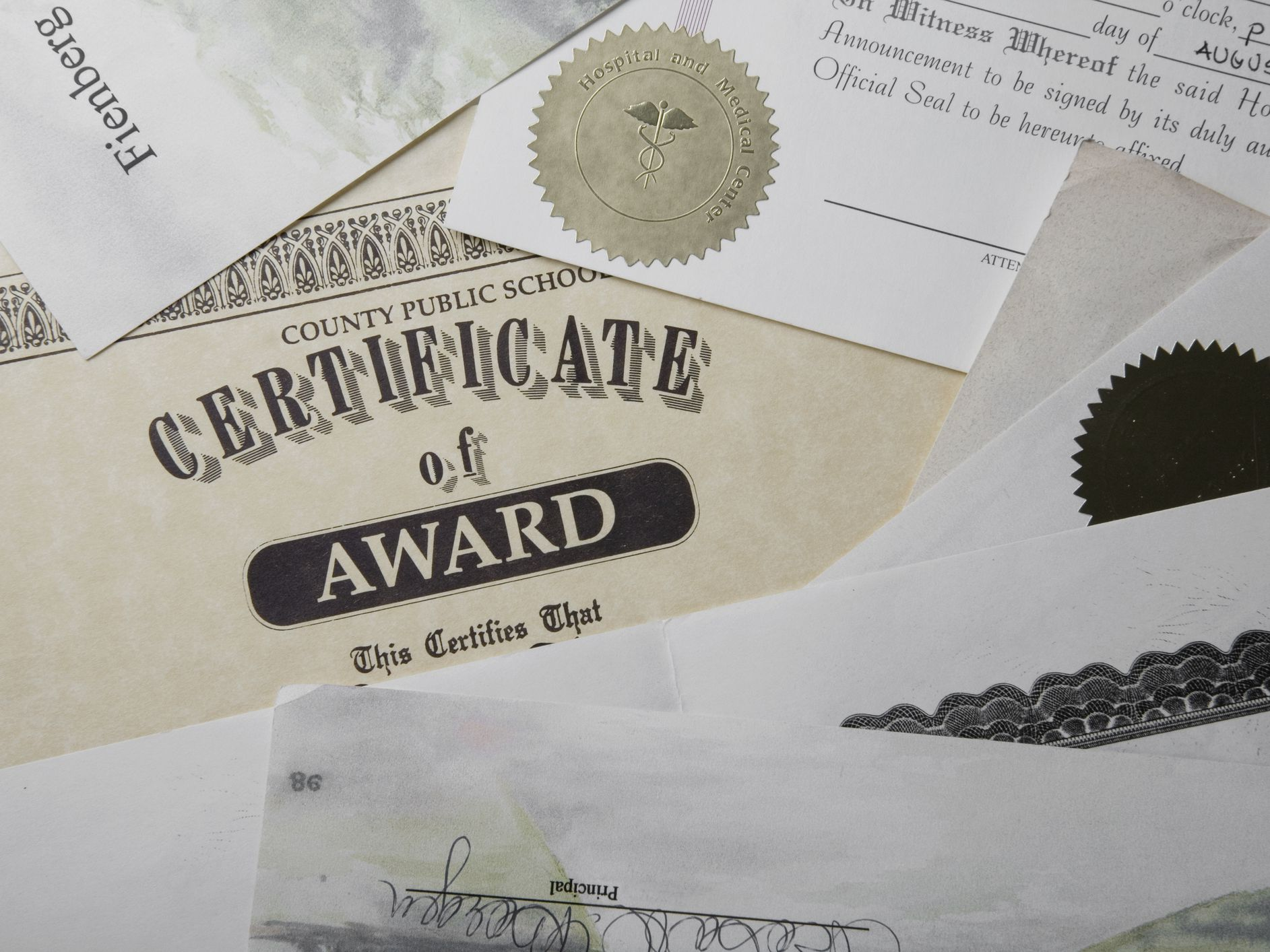 Traditional Certificate Fonts
