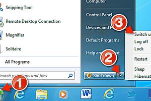 Switch Users Windows 7 screenshot
