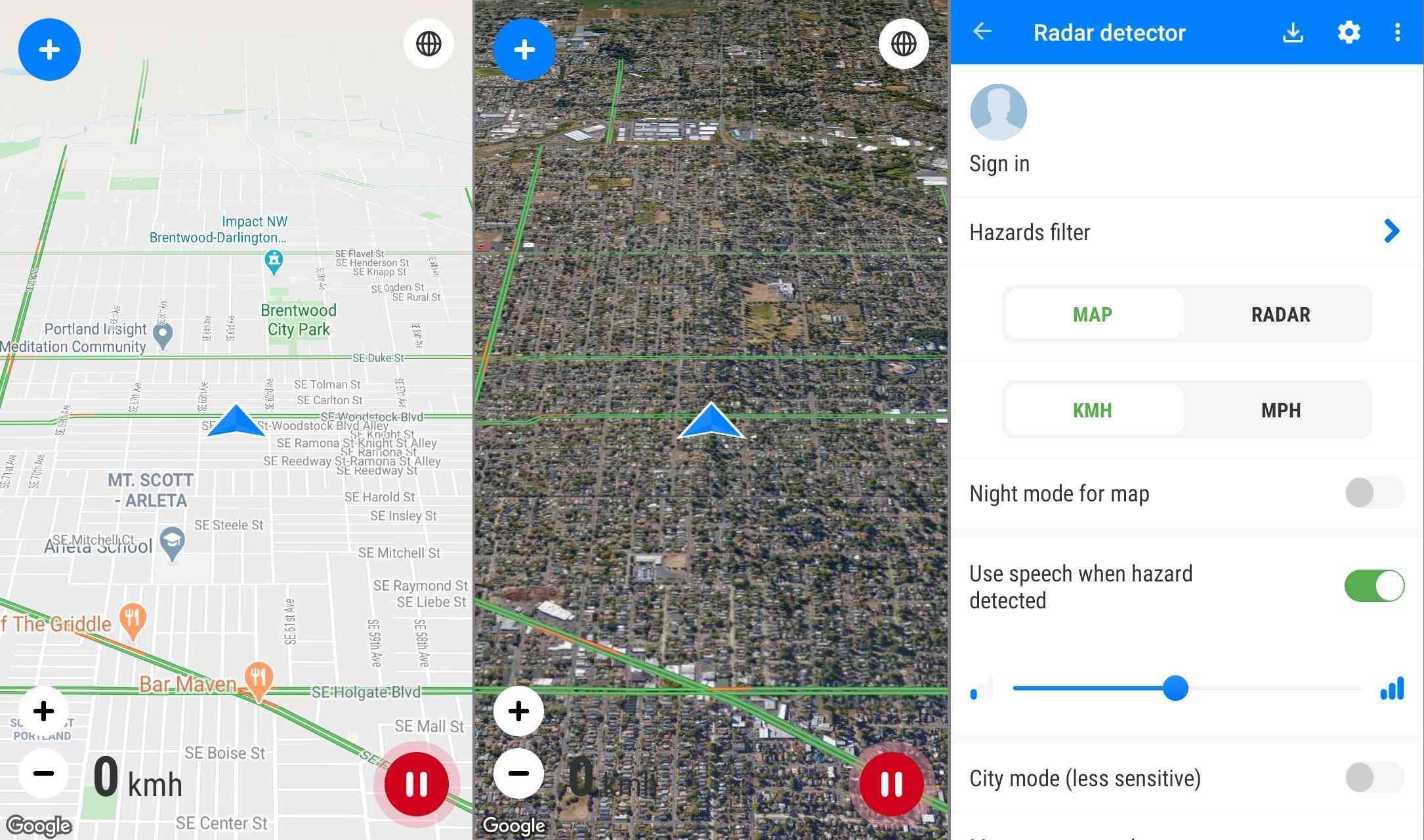 Speed Camera Radar Android app