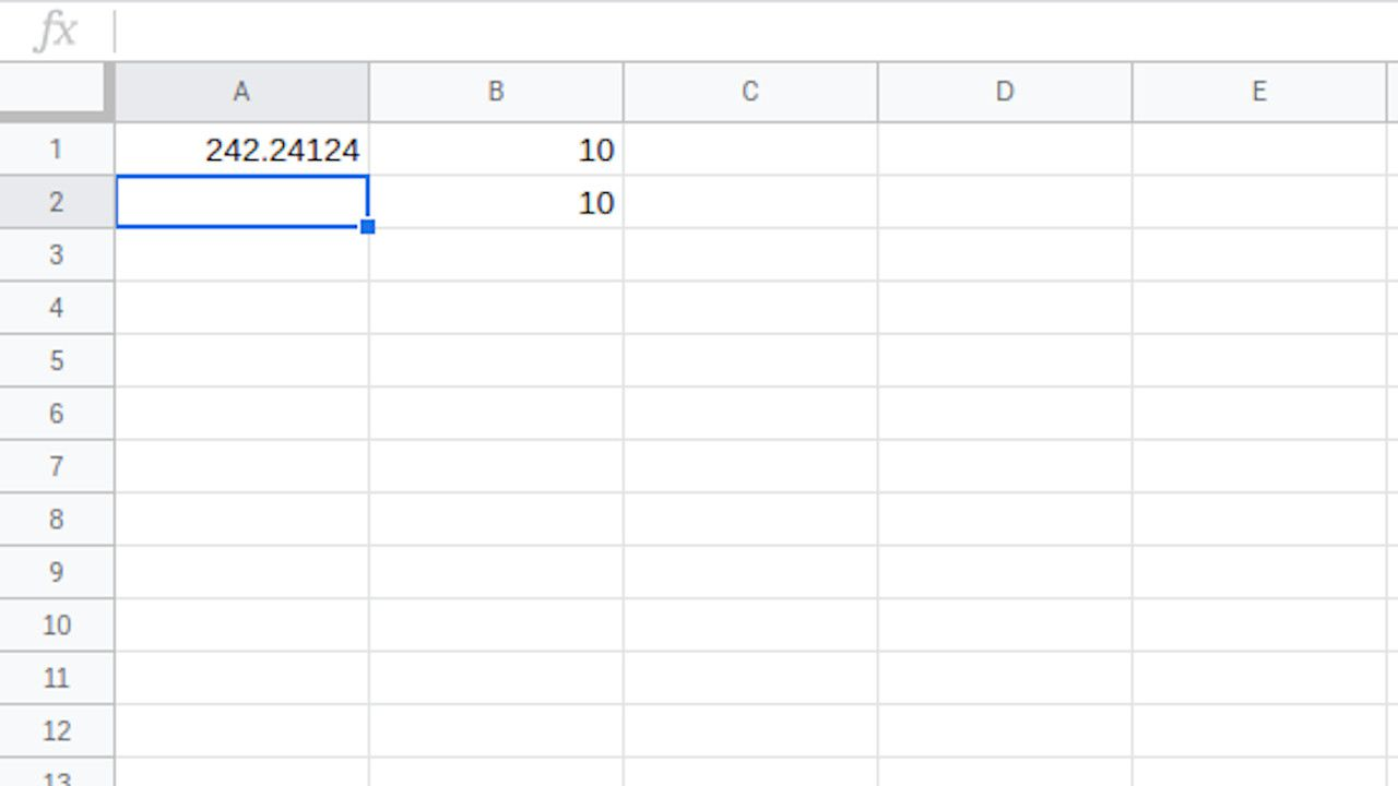 Google Sheets cell selected